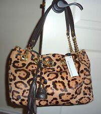 NWT $169 Roberta Gandolfi Leopard Print Calf Hair Handbag
