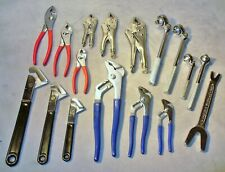 17 Mechanic Tools-Flex Head Ratchets-Water Pump-Slip Joint-Other Pliers-Wrenches