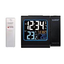 La Crosse Technology Wt552 Noir - Réveil avec projection de L'heure et Capteur