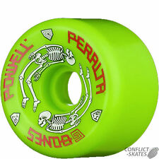 POWELL PERALTA G-Bones Skateboard Wheels 97a GREEN Old Skool 80s re-issues Vert