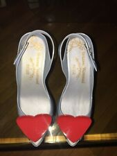 VIVIENNE WESTWOOD / MELISSA RARE FIRST COLLECTION RUBBER HEELS WITH RED HEART!!!