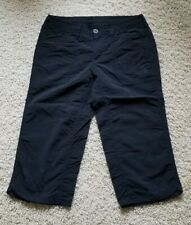 Women's The North Face Outdoor Hiking Travel Cropped Nylon Pants Size 2 Black