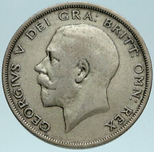 1920 Great Britain United Kingdom UK King GEORGE V Silver Half Crown Coin i83156