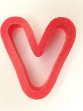 "Red 2 1/4"" Alphabet Letter -V- Cookie Cutter Art Mold"