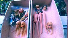 Vintage Stacy PJ talking Barbie Ken head lot. With case