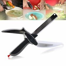 Kabalo Clever Cutter 2-in-1 Knife Cutting Board Scissors Blade Vegetables Fruit