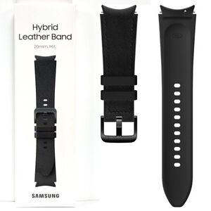 Official Genuine Samsung Galaxy Watch 4 Hybrid Leather Band Strap 20mm M/L Black