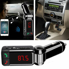 Car FM Transmitter Kit Bluetooth Hands-free Radio Adapter MP3 Player LCD Charger