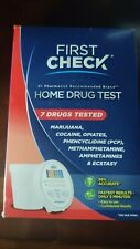 First Check Home Drug Test 7 Drugs Tested Marijuana, Cocaine Opiate 12/06/2020