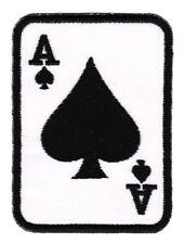 au85 Karte Ass Pik Ace of Spades Aufnäher Bügelbild Applikation 5,5 x 7,5 cm