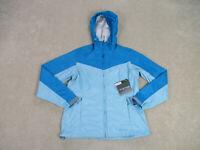 NEW Eddie Bauer Jacket Womens Medium Blue Full Zip Lightweight Hooded Ladies