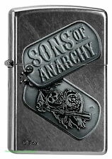Zippo Lighter Sons of Anarchy-Dog Tag SOA DISCOVERY BRAND NEW OVP