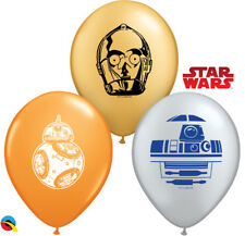 "STAR WARS PARTY SUPPLIES 25 x 5"" DROID ASSORTMENT QUALATEX STAR WARS BALLOONS"
