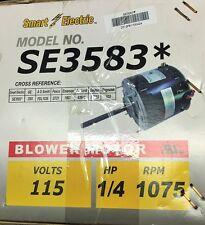 1/4 HP SE3583  3583 Furnace Blower Motor-115V-1075 RPM- Smart Electric 3.6 AMP