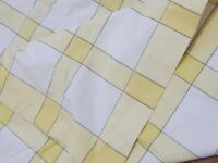 VINTAGE CHECKED COTTON TABLECLOTH