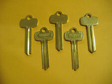 "LOT OF FIVE  NICKEL SILVER LOOKS LIKE BEST KEY BLANKS FOR ""G""  KEYWAY"