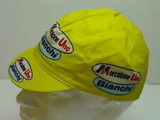 Classic Mercatone uno Bianchi Cycling cap, Italian made Retro fixie.