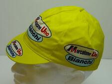 Classic Mercatone uno Bianchi Cycling cap, Italian made Retro fixie.