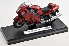 BLITZ VERSAND Suzuki Hayabusa rot / red Welly Motorrad Modell 1:18 NEU & OVP