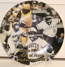"WILLIE STARGELL Pittsburgh Pirates Hall Of Fame TRIB SGA 8 1/2"" Plate New In Box"