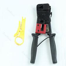 RJ45 RJ11 Cable Crimper Crimp Cuts And Strip Cut Tool Network Easy