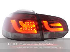 VW Golf 6 VI Led Rückleuchten R R20 GTI GTD rot schwarz dunkel Lightbar