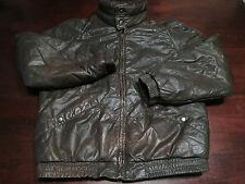 Vtg Mens Leather Jacket Coat Size Medium Cafe Racer Rider Motorcycle Biker Zip