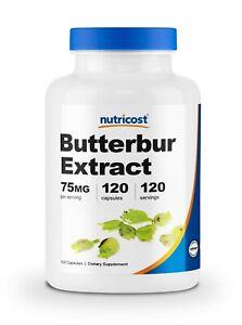 Nutricost Butterbur Extract Capsules (75mg) 120 Capsules - Gluten Free & Non-GMO