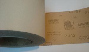Indasa Rhynalox Whiteline Dry Sand Paper 10m Roll P400 Grit Abrasive Sanding