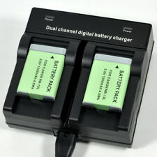 Dual Charger +2x Battery for Canon NB-13L G5X G7X G9X G7 G9 X Mark SX620 SX720