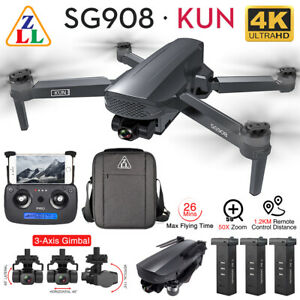 ZLL SG908 GPS FPV Drone+4K HD Camera 3-Axis Gimbal WiFi Brushless RC Quadcopter