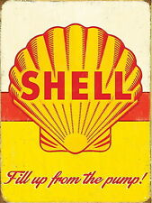 SHELL MOTOR OIL VINTAGE METAL SIGN GARAGE:MAN-CAVE:HOME DECOR: IDEAL GIFT