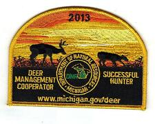 2013 MICHIGAN DNR SUCCESSFUL DEER HUNTER PATCH -BEAR-TURKEY-ELK-MOOSE-FISHING