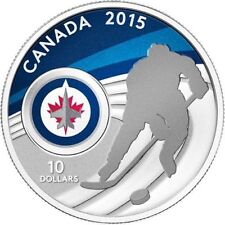 2015 Canada Pure Silver $10 Silver Coin New NHL Winnipeg Jets