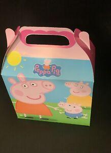 10ct Peppa Pig Candy/Treat Boxes Loot Goody Treat Cajita Dulcera