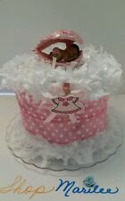 Angel Baby Shower Baptism Diaper Cake Pink Table Decoration Cake Topper FIGURINE