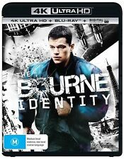 Bourne Identity (4K Ultra HD Blu-ray, 2016,2-Disc Set) (Region B) Aussie Release