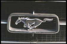 465059 Silver Mustang Emblem A4 Photo Print