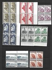 POLAND Sc 3K1-16 NH BLOCKS OF 4 OF 1941-43 - EXILE GOV'T IN BRITAIN - WWII