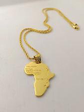 Collana Ciondolo Africa Oro Gioielli Unisex Collier pendentif en or en Afrique