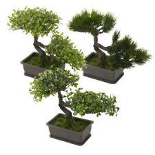 Flores secas y artificiales decorativas árboles de plástico para el hogar