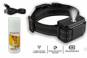 Citronella Anti-Bark Collar No Barking Safe & Humane Dog Training Collar