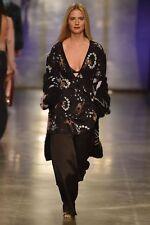 Topshop by Unique 2017 Runway Alice Tea Dress Black Floral Deer Dress Size 8 NWT