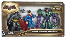 Batman V Superman Dawn Of Justice Batman Superman Lex Luthor Figure 3 Pack NEW