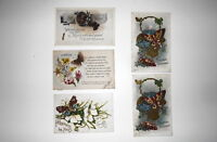 LOT OF 5 BUTTERFLY GREETINGS  POSTCARDS BIRTHDAY BEST WISHES HAPPINESS ETC