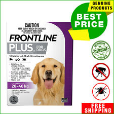 FRONTLINE PLUS Flea and Tick treatment for Dog 20 to 40Kg 3 Pipettes Purple Pack