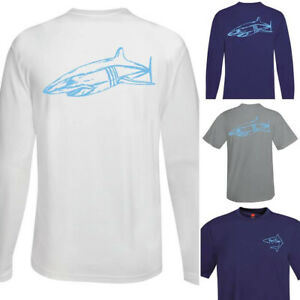 Mako Shark Fishing Shirt, Shark Performance Shirt, 50+UV Mens Fishing Sun Shirt