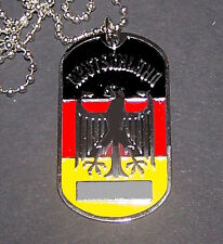 Germany German Deutschland Bundesliga Soccer Eagle Pendant Chain Dog Tag Team SS