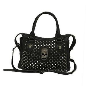 Punk Skull Black Rivet Shoulder Bag Women Purse Casual Handbag