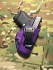 Purple & Flo Yellow Kydex IWB for Glock 26/27 Holster w/Adjustable Retention pic